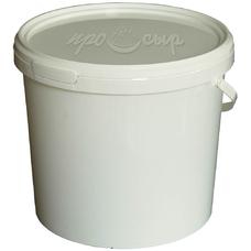 Ведро пластиковое с крышкой и ручкой  (1,1 литра)